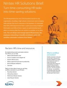 Download the Nintex HR Solutions Brief Today